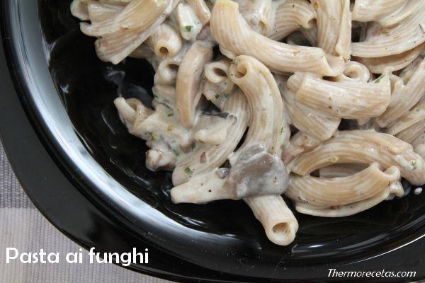 Pasta al funghi.  #recetas #thermomix #pasta