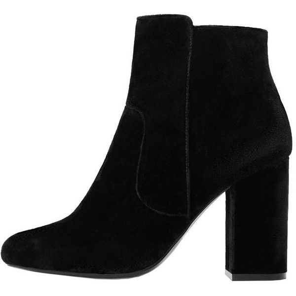 MANGO Velvet Heel Ankle Boot (£64) ❤ liked on Polyvore featuring shoes, boots, ankle booties, botas, sapatos, zapatos, ankle boots, velvet booties, velvet boots and short boots