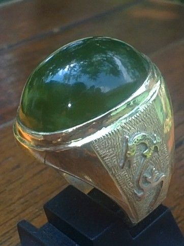 "| This is a real good natural "" Batu Sungai Dare "". The green ""Jade of Sumatra"""