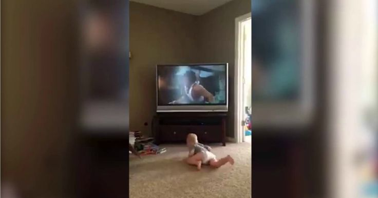 "Two-year-old Charlie Magilavy is giving ""the eye of the tiger"" a whole new meaning. Mesmerized by the training montage from Rocky II, the adorable..."