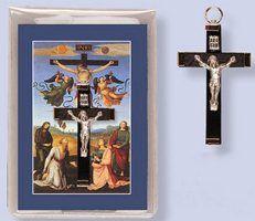 Prayer Leaflet in Wallet & Wooden Crucifix