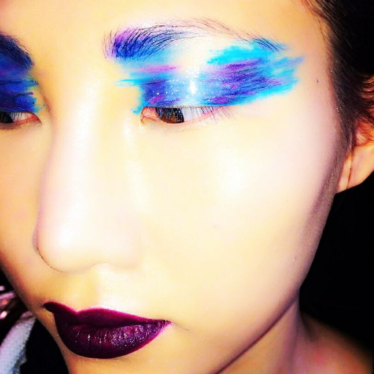 My oil slick inspired makeup