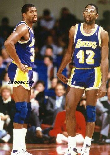 Magic Johnson and James Worthy