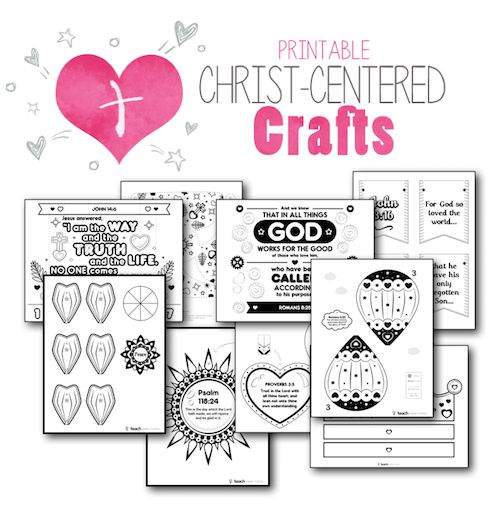 Scripture Crafts for Kids ages 4-12.  Includes printable templates!  Great for home or church.