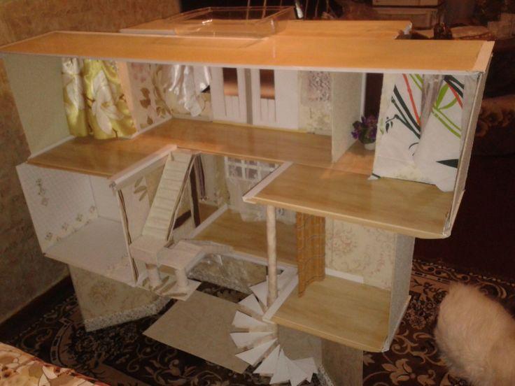 2 жилой дом для Барби изнутри без мебели
