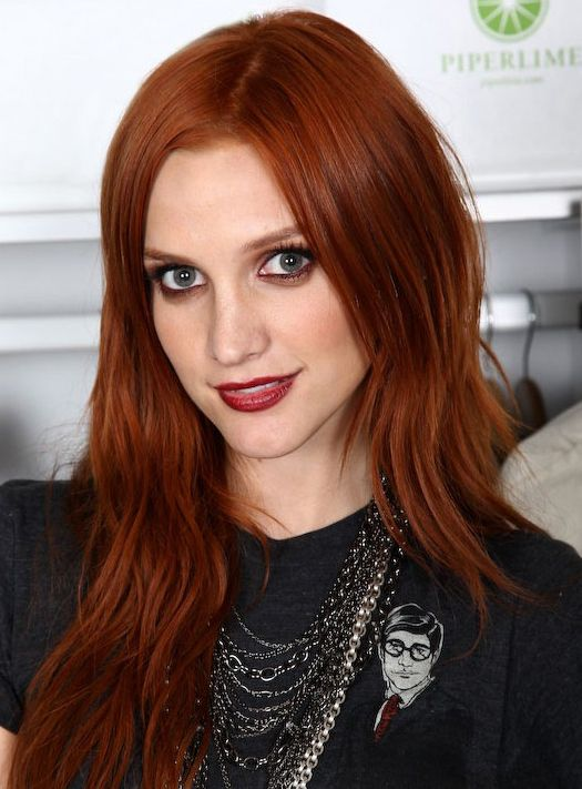 Ashlee Simpson's Red Long Hairstyle