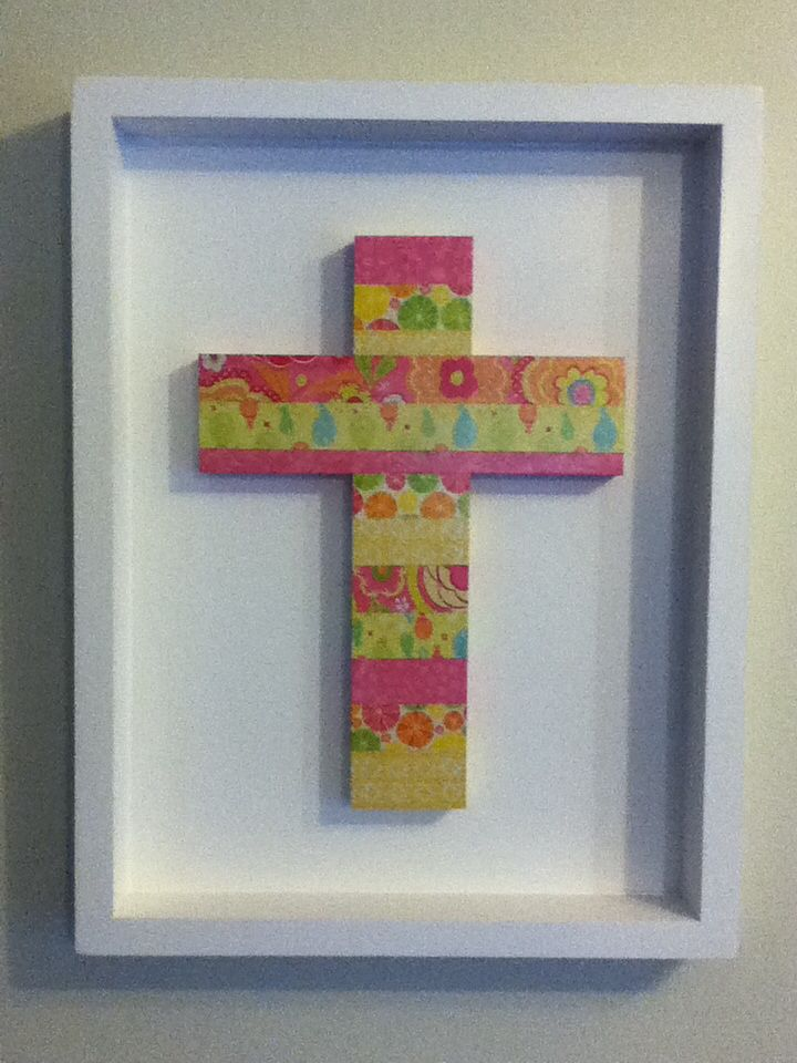 Collage cross for girls