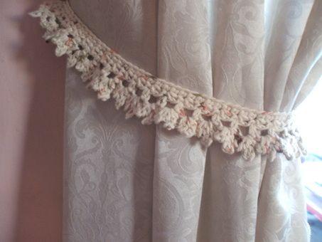 Curtain/Drapery Tiebacks, free crochet pattern on Homemade Hats by Cheryl
