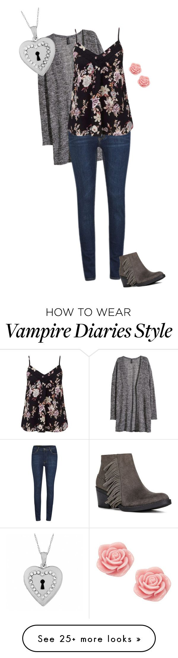 """""""Caroline Forbes 1.0 {The Vampire Diaries}"""" by sarah-natalie on Polyvore featuring H&M, Cheap Monday, Miss Selfridge, Fremada, JustFab and Monsoon"""