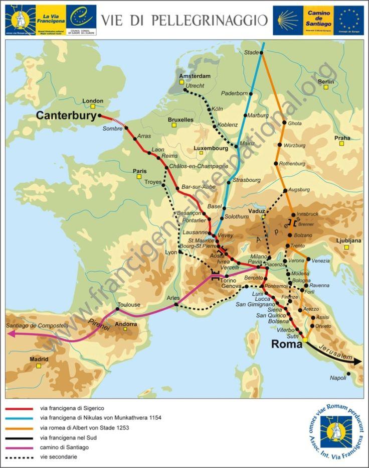Ass. Int. Via Francigena  pilgrimages to Rome   http://www.landschapreisboekwinkel.nl/ean/9788889385609