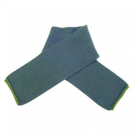Wool scarf melange, green, Disana