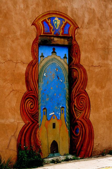 Sante Fe, NM AWESOME! A FABULOUS DECORATED & COLOURFUL DOOR/ENTRY <3<3<3 @