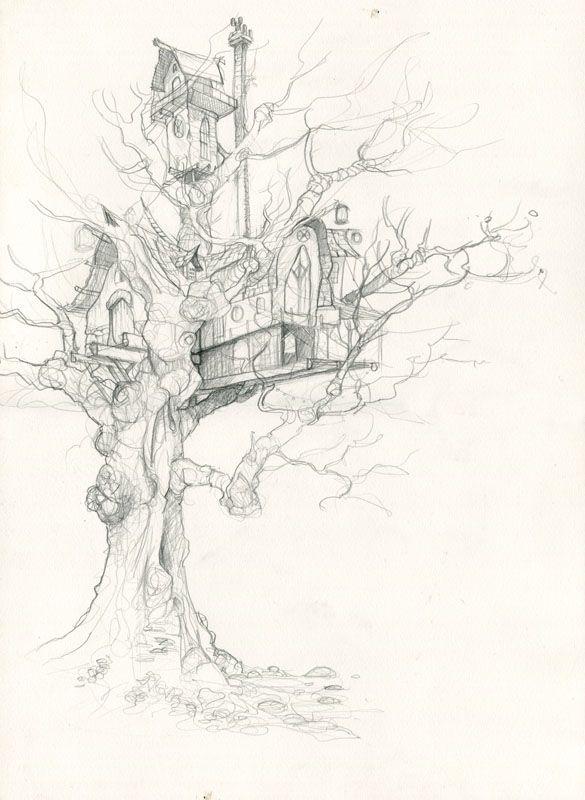 когда сказочное дерево рисунки карандашом представляет собой