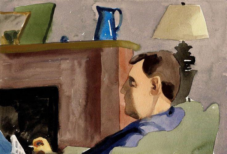 annamaria potamiti- : February 2013- watercolor- Focus-