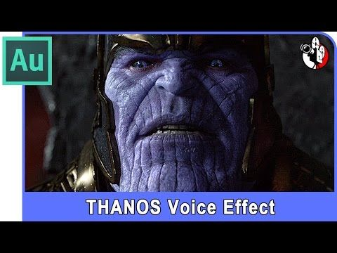 Adobe Audition Tutorial - Thanos voice effect changer from marvel