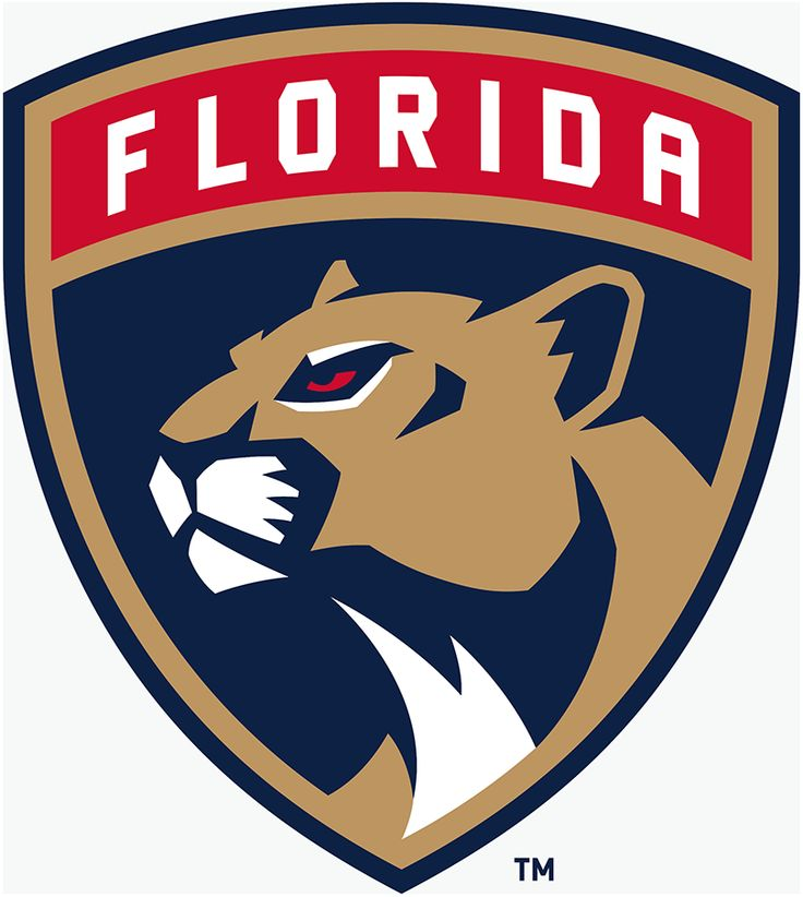 Florida Panthers Primary Logo (2017) - Florida panther head in a shield with team name arched above