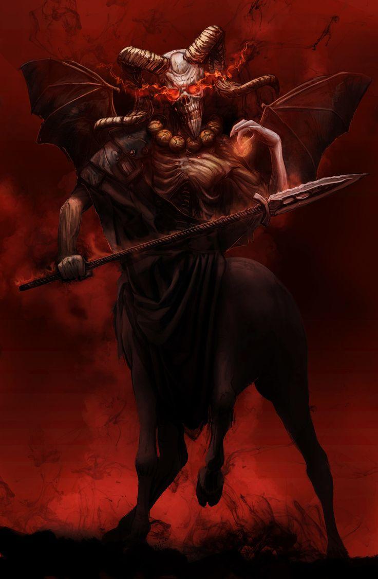 Abigor - Grand Duke of Hades, Máté Lukács on ArtStation at https://www.artstation.com/artwork/nXyPX