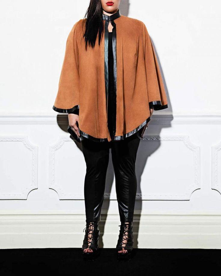Vogue Plus Size Magazine   Plus Size Fashion Trend… Suedette Cape from OneOne3.co.uk   PLUS ...