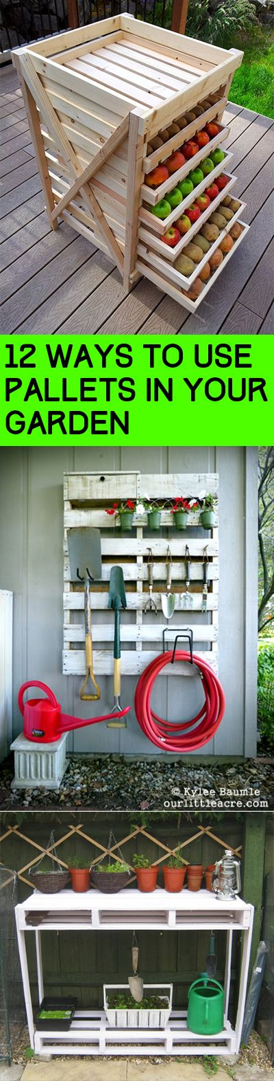 12 Ways to Use Pallets in Your Garden