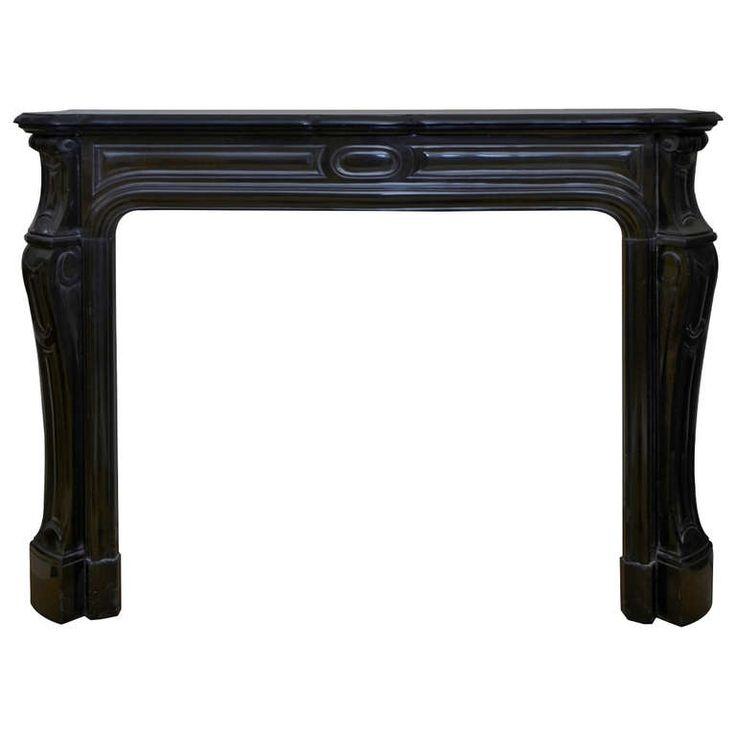 19th Century Louis XV Pompadour Style Black Marble Fireplace | 1stdibs.com