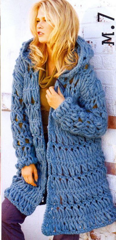 Pattern: Hairpin Crochet Hooded Chunky Coat. http://news.knitting-info.ru/_images/knit/galery/489/48990240.jpg http://mirpiar.com/_ph/2/196376802.jpg