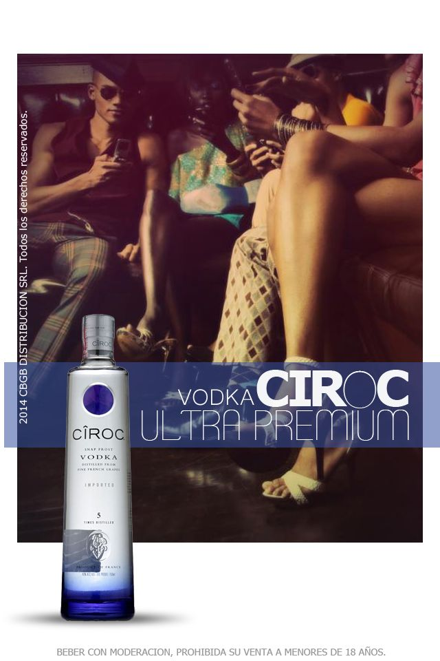 El vodka Cîroc es el más sofisticado del mundo. Realizado exclusivamente a partir de uvas Mauzac Blanc y Ugni Blanc de primera calidad para ofrecer una experiencia exquisitamente suave, fresca e innovadora. En el vodka Cîroc se utilizan la maceración, la fermentación y el almacenamiento en frío, además de destilarse cinco veces.