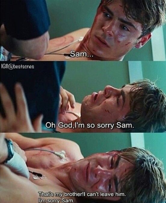 Charlie St Cloud .. One of my favorite movies, and this is the saddest part of the whole thing to me.