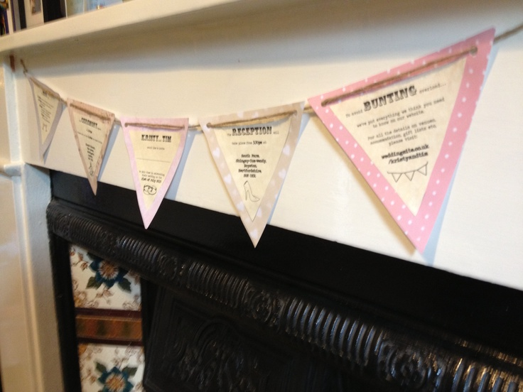 Our bunting style wedding invites