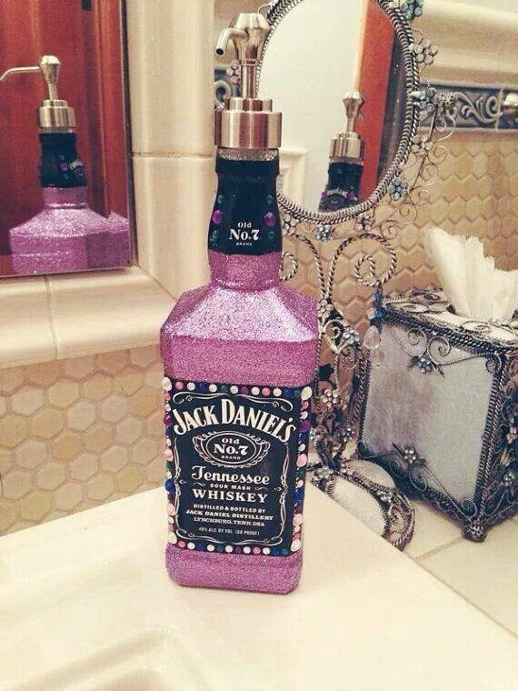 Jack Daniels whiskey bottle soap pump