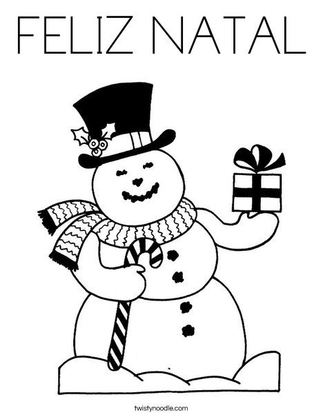 FELIZ NATAL Coloring Page - Tracing - Twisty Noodle ...