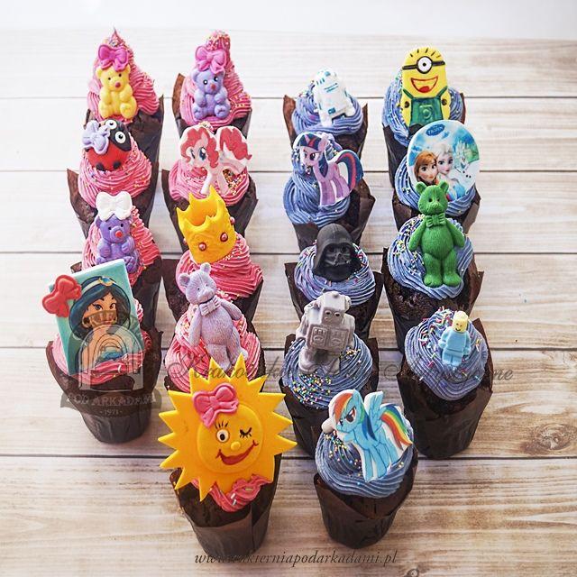 13BC Muffinki na Dzień Dziecka z misiami, kucykami Pony, robotami, księżniczkami, Minionkami, biedronką i słoneczkiem.International Children's Day Cupcakes.