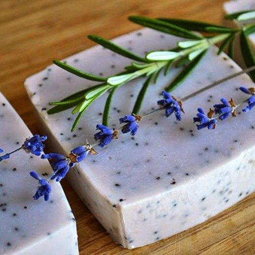 Мыло-скраб с ароматом лаванды