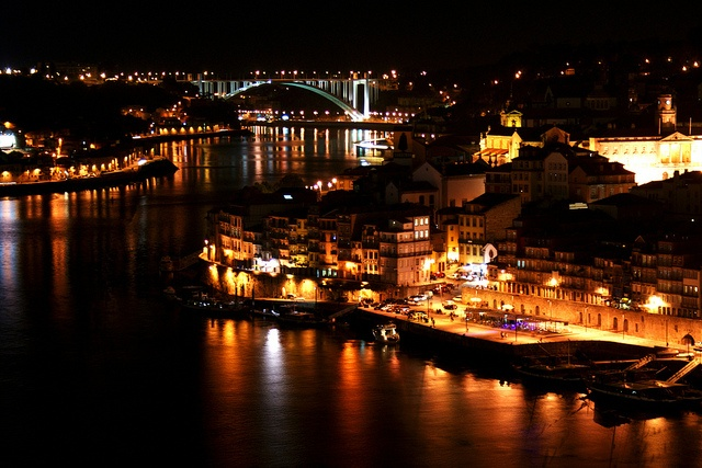 Oporto by night by Arianna_M(busy), via Flickr