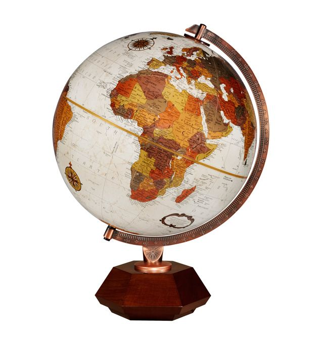 59 best desktop globes images on pinterest world globes desk replogle hexhedra frank lloyd wright desktop world globe with hardwood base copper plated gumiabroncs Image collections