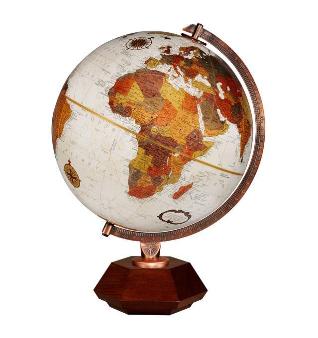 59 best desktop globes images on pinterest world globes desk replogle hexhedra frank lloyd wright desktop world globe with hardwood base copper plated gumiabroncs Images