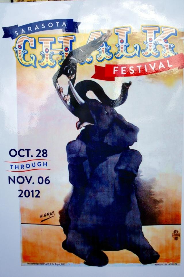 Chalk Festival poster #Sarasota