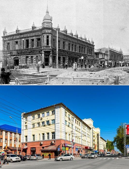 Упростили Дом на углу улицы Гудимовская и Николаевского проспекта в Новониколаевске, был построен в 1908–1909 годах.