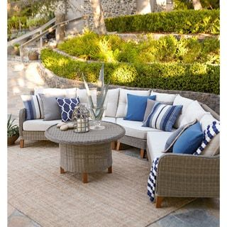 Shop for Sorrento 4 Piece Sectional Sofa Set. Get free delivery at Overstock.com - Your Online Garden & Patio Shop! Get 5% in rewards with Club O! - 20043868