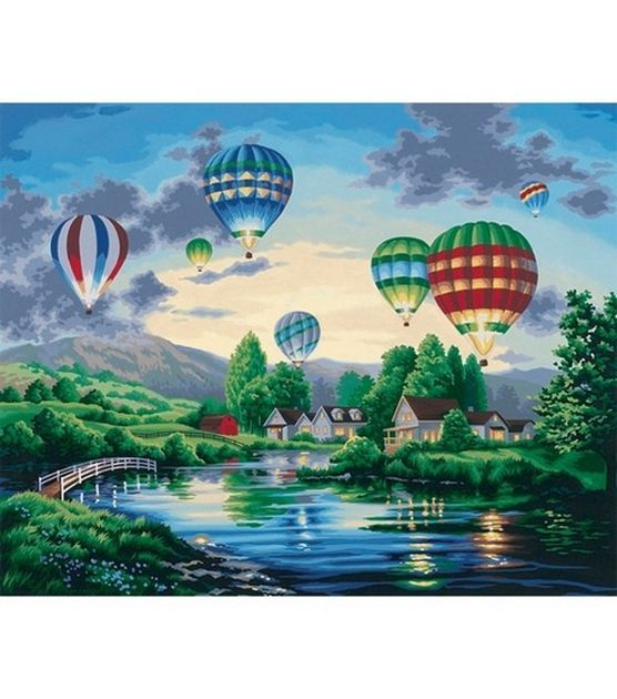 "Paint By Number Kit 20""X16""-Balloon Glow/Nicky Boehme, , hi-res"
