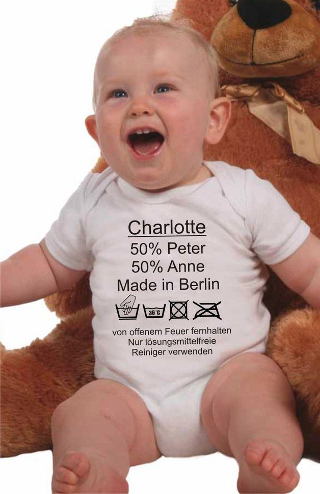 dawanda.com: Baby Body mit Pflegeanleitung