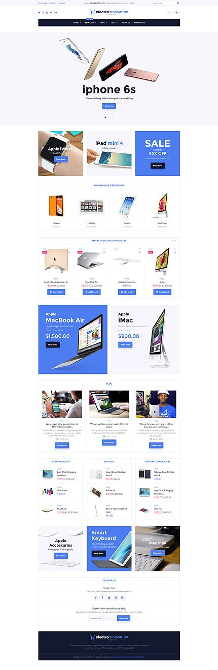 Computers & Mobile Devices Online Store #Shopify #template. #themes…