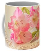 Gladiolas In Pink Coffee Mug by Sandra Foster