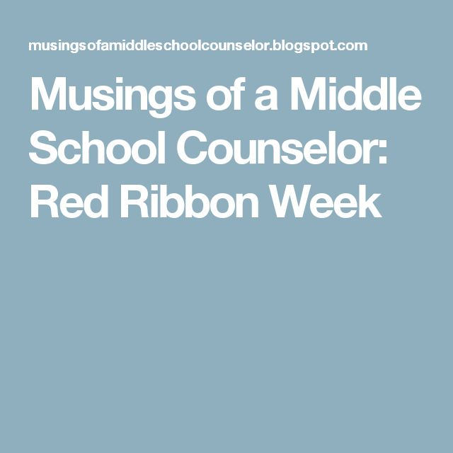 Musings of a Middle School Counselor: Red Ribbon Week