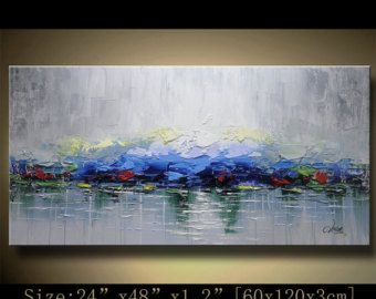 Abstract Large ORIGINAL Painting Modern Textured Painting,  Palette Knife, Home wall art Decor, acrylic art Painting on Canvas  by Chen 1108