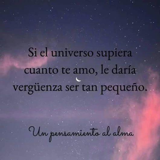 Sólo el universo lo sabe