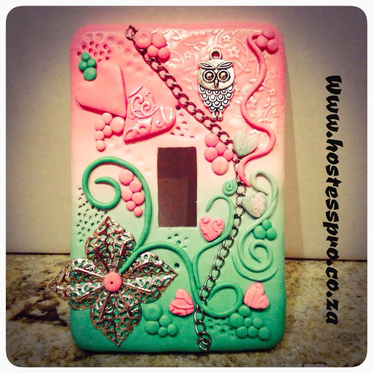 #Polymer Clay Light switch cover