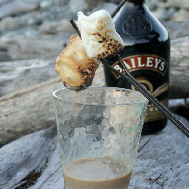 Bailey's-Dipped Toasted Marshmallows | 29 Camping Recipes That'll Make You Look Like A Genius