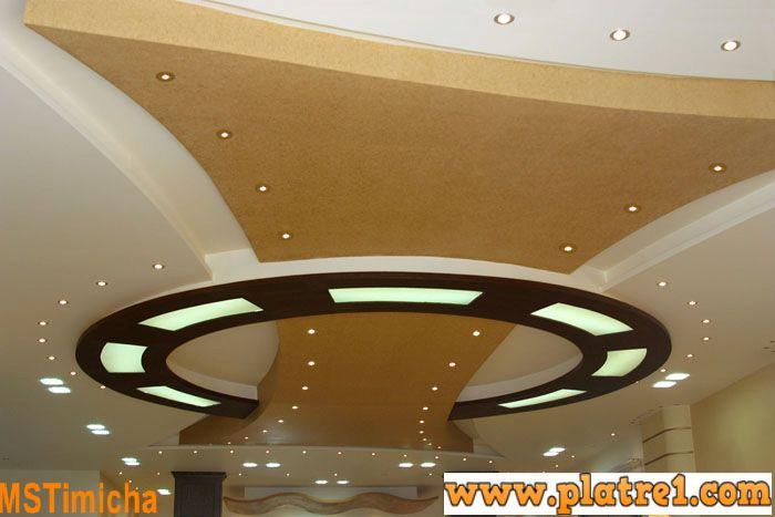 Design faux plafond des salons soci t d coration ms for Decoration faux plafond