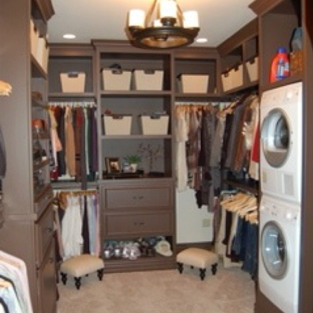 washer and dryer in the closet... good idea.
