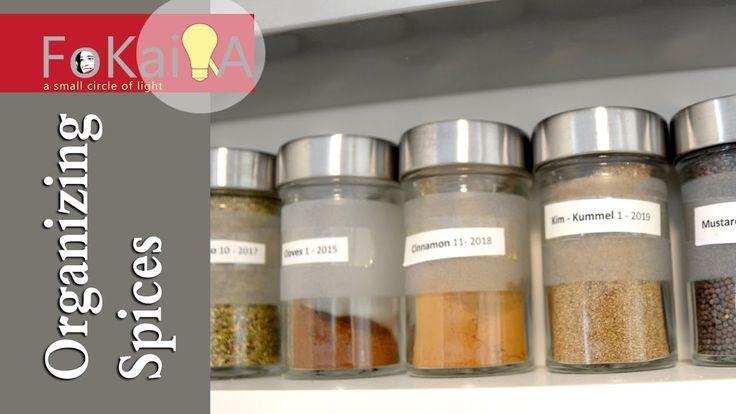 mini idea 172 | Spice organization in jars and bags